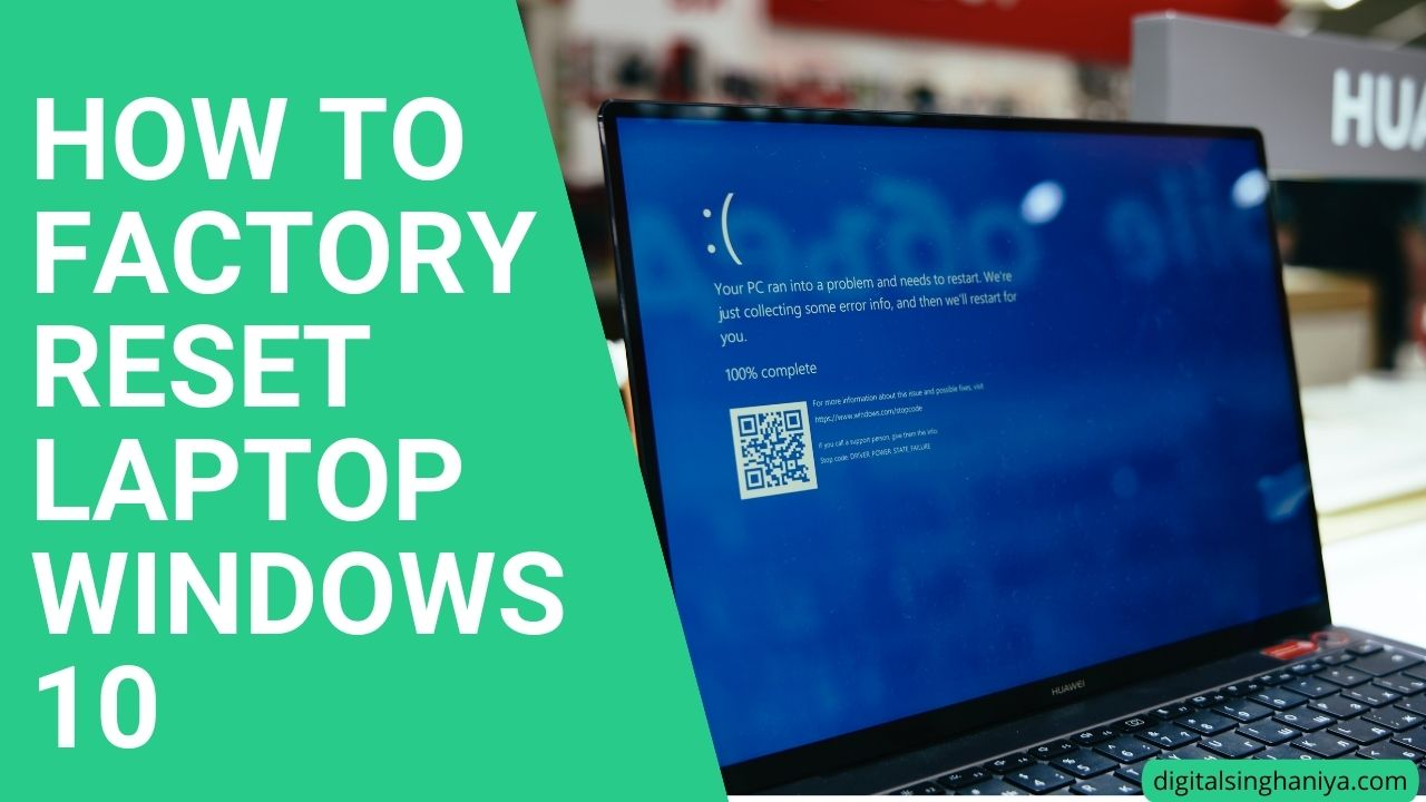 how to factory reset laptop windows 10 in every laptop